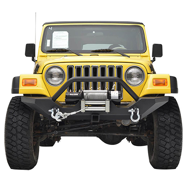 87-06 Jeep Wrangler TJ/YJ Heavy Duty Rock Crawler Front Bumper with Receiver for Jeep Wrangler TJ