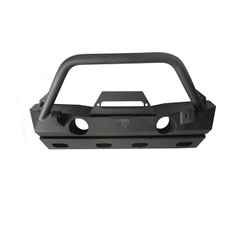 Front Bumper Brawler Bar - Plate Gussets - Tabs Black Powder-Coated (Steel) for Jeep Wrangler JK