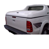 Fiberglass Carryboy Model Tonneau Cover With Roll Bar 45 Degree Open For Vigo 2012 Double Cab 4 Doors Primer for Toyota Hilux Vigo
