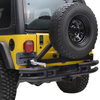 87-06 Jeep Wrangler YJ/TJ Fat Tube Rear Bumper with Tire Carrier for Jeep Wrangler TJ
