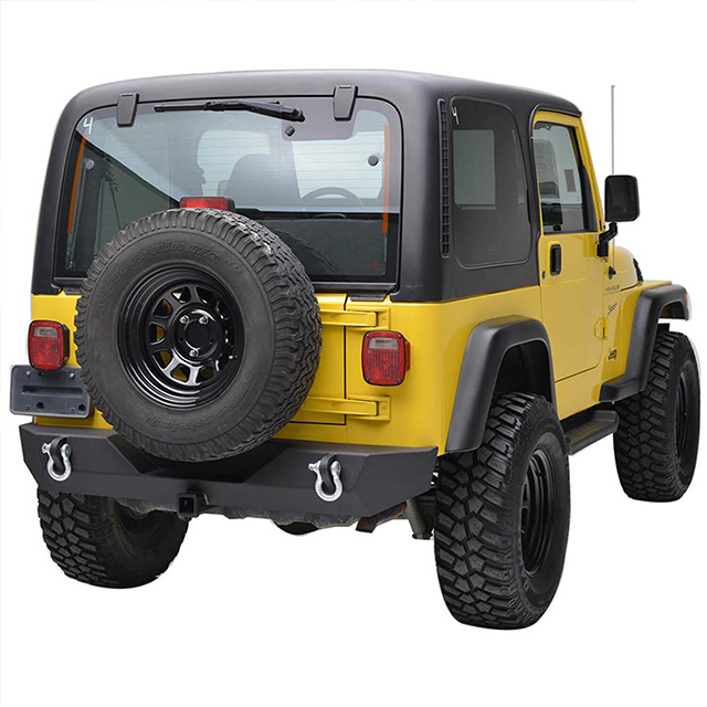 87-06 Jeep Wrangler YJ/TJ Heavy Duty Rock Crawler Rear Bumper for Jeep Wrangler TJ