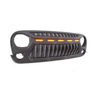 Grill for Jeep Wrangler JK with Leds