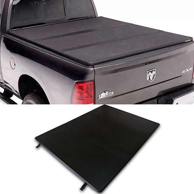 Hard Tri-fold Tonneau Cover for Dodge Ram 1500 02-18' Short Bed 6.4""