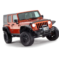 Jeep JK Wrangler Flat Style Fender Flare Front And Rear